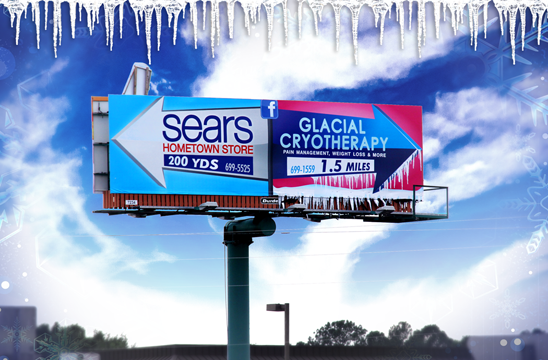 Sears-Store-Glacial-Cryotherapy-Icy-Billboard-Dothan-Alabama