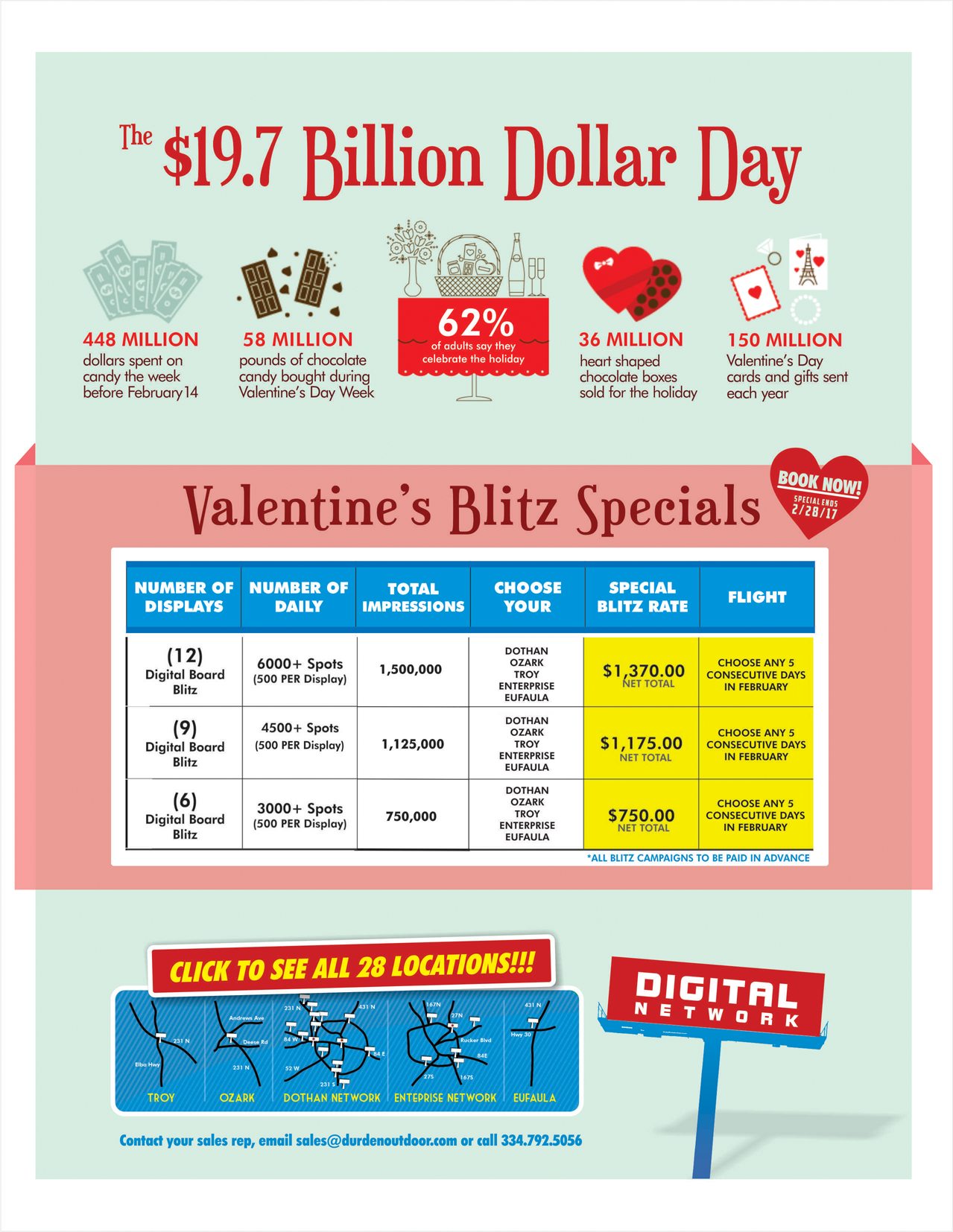 Durden Valentine's Day Specials